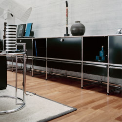 USM Haller Media | Graphite Black | Multimedia sideboards | USM