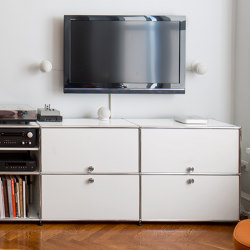 USM Haller Media | Pure White | Multimedia sideboards | USM