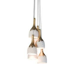 Naturofantastic 6 Lights Ceiling Lamp (CE/UK) | Suspended lights | Lladró
