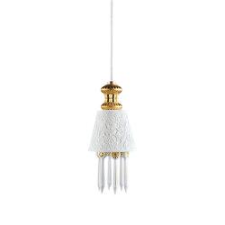 Belle de Nuit Ceiling Lamp with Lithophane | Golden Luster (CE/UK) | Suspended lights | Lladró