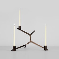 Agnes Candelabra Table - 3 Candles (Bronze) | Candelabros | Roll & Hill