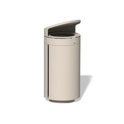Litter bin 210 with roof top   Waste baskets   BENKERT-BAENKE