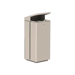 Litter bin 810 with roof top | Waste baskets | BENKERT-BAENKE