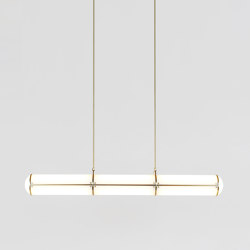 Endless Straight - 3 Units (Brushed brass) | Lámparas de suspensión | Roll & Hill