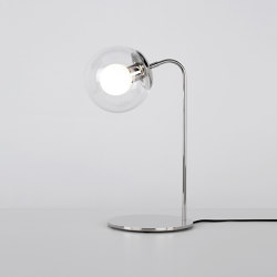 Modo Desk Lamp (Polished nickel/Clear) | Table lights | Roll & Hill