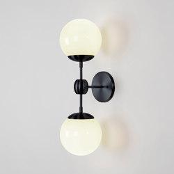 Modo Sconce - 2 Globes (Black/Cream) | Appliques murales | Roll & Hill