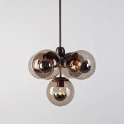 Modo Pendant - 5 Globes (Bronze/Smoke) | Lámparas de pared | Roll & Hill