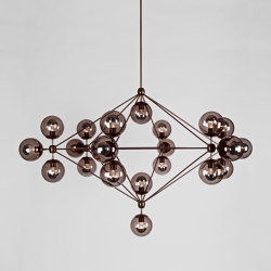 Modo Chandelier - 6 Sided, 21 Globes (Bronze/Smoke) | Suspended lights | Roll & Hill
