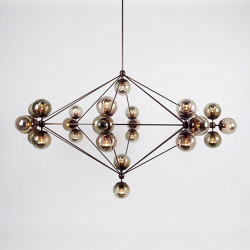 Modo Chandelier - 8 Sided, 27 Globes (Bronze/Smoke) | Suspended lights | Roll & Hill