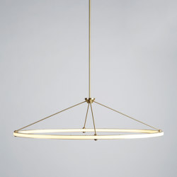 Halo Oval Pendant (Brushed brass) | Suspended lights | Roll & Hill
