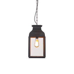 0277 Pendant Lantern, Weathered Brass, Clear Glass | Suspended lights | Original BTC