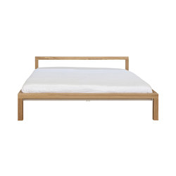 Pure solid oak bed frame | H 696 EM H 698 EM | Beds | Hans Hansen & The Hansen Family