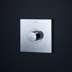 AXOR ShowerSelect Square thermostatic mixer highflow for concealed installation | Shower controls | AXOR