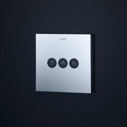 AXOR ShowerSelect Square valve for concealed installation for 3 outlets | Shower controls | AXOR