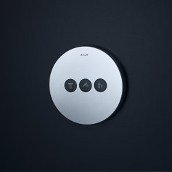 AXOR ShowerSelect Round valve for concealed installation for 3 outlets | Shower controls | AXOR