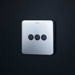 AXOR ShowerSelect Soft Cube valve for concealed installation for 3 outlets | Shower controls | AXOR