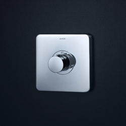 AXOR ShowerSelect Soft Cube thermostatic mixer highflow for concealed installation | Shower controls | AXOR