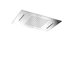 Harmonia F2903 | Ceiling mounted stainless steel showerhead with rain flow, 2 cascade | Shower controls | Fima Carlo Frattini