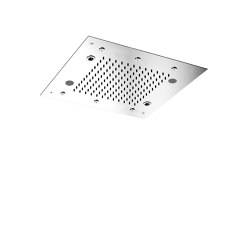 Harmonia F2902 | Ceiling mounted stainless steel showerhead with rain flow, 6 mist sprays, cromotherapy and audio | Shower controls | Fima Carlo Frattini