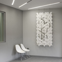 Facet Hanging Room Divider - 102x230cm | Sound absorbing room divider | Bloomming