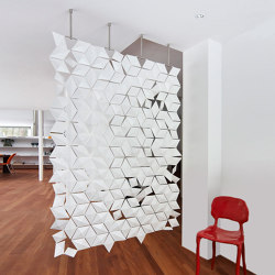 Facet Hanging Room Divider - 136x210cm | Sound absorbing suspended panels | Bloomming