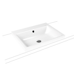 Puro inset countertop washbasin 40 mm alpine white | Lavabos | Kaldewei