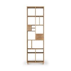 Pirouette   Oak book rack - 4 drawers   Shelving   Ethnicraft