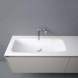 D3 Tapa con lavabo integrado en Corian® | Lavabos | Inbani