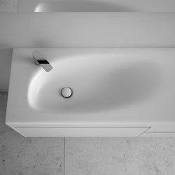 F1 Tapa con lavabo integrado en Corian® | Lavabos | Inbani