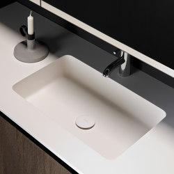 H2 Tapa con lavabo integrado en Solidsurface | Lavabos | Inbani