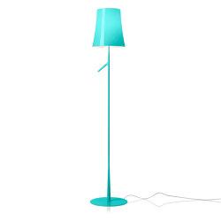 Birdie floor aquamarine | Free-standing lights | Foscarini