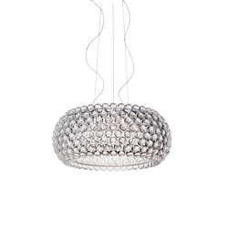 Caboche Plus grand suspension transparent LED | Suspensions | Foscarini