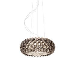 Caboche Plus suspension medium LED grey | Suspended lights | Foscarini