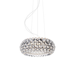Caboche Plus suspension moyen transparent LED | Suspensions | Foscarini