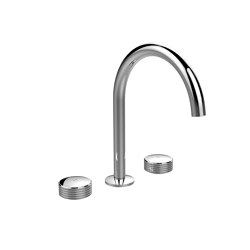 Texture Collection F5611 | 3-holes basin mixer with swivel spout | Wash basin taps | Fima Carlo Frattini