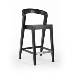 Play Barstool - Teak Black Coated | Counter stools | Wildspirit