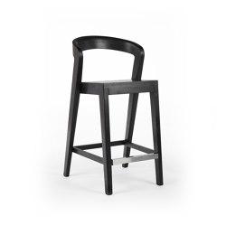 Play Barstool outdoor - Teak black | Bar stools | Wildspirit