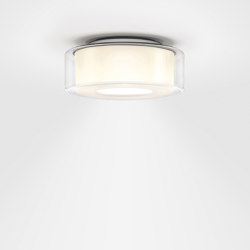 CURLING Ceiling | shade glass clear, reflector cylindrical opal | Lampade plafoniere | serien.lighting