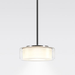 CURLING Suspension Tube | shade clear, reflector cylindrical opal | Suspensions | serien.lighting