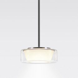 CURLING Suspension Tube | shade clear, reflector conical opal | Suspensions | serien.lighting