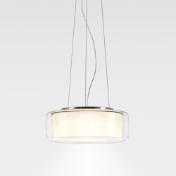 CURLING Suspension Rope | shade clear, reflector cylindrical opal | Suspended lights | serien.lighting