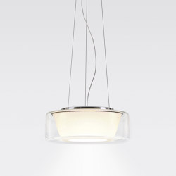 CURLING Suspension Rope | shade clear, reflector conical opal | Suspensions | serien.lighting