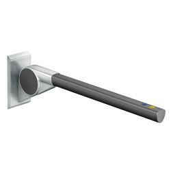 FSB ErgoSystem® A100 Drop-down support rail with one function button yellow | Pasamanos / Soportes | FSB