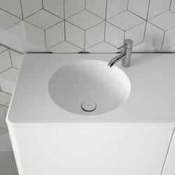 Cerclo Corian® top with integrated washbasin | Wash basins | Inbani
