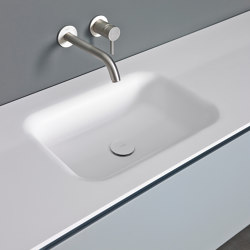 Float Tapa con lavabo integrado en Solidsurface | Lavabos | Inbani