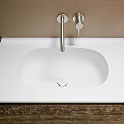 Ovalo Tapa con lavabo integrado en Corian® | Lavabos | Inbani