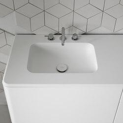 Quadro Tapa con lavabo integrado en Corian® | Lavabos | Inbani