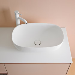 Ovalo Lavabo sobre encimera en Corian®. | Lavabos | Inbani