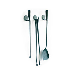 A Ferro e Fuoco Companion Set / Wall hooks | Fireplace accessories | conmoto