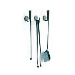 A Ferro e Fuoco Companion Set / Wall hooks | Fireplace accessories | Conmoto